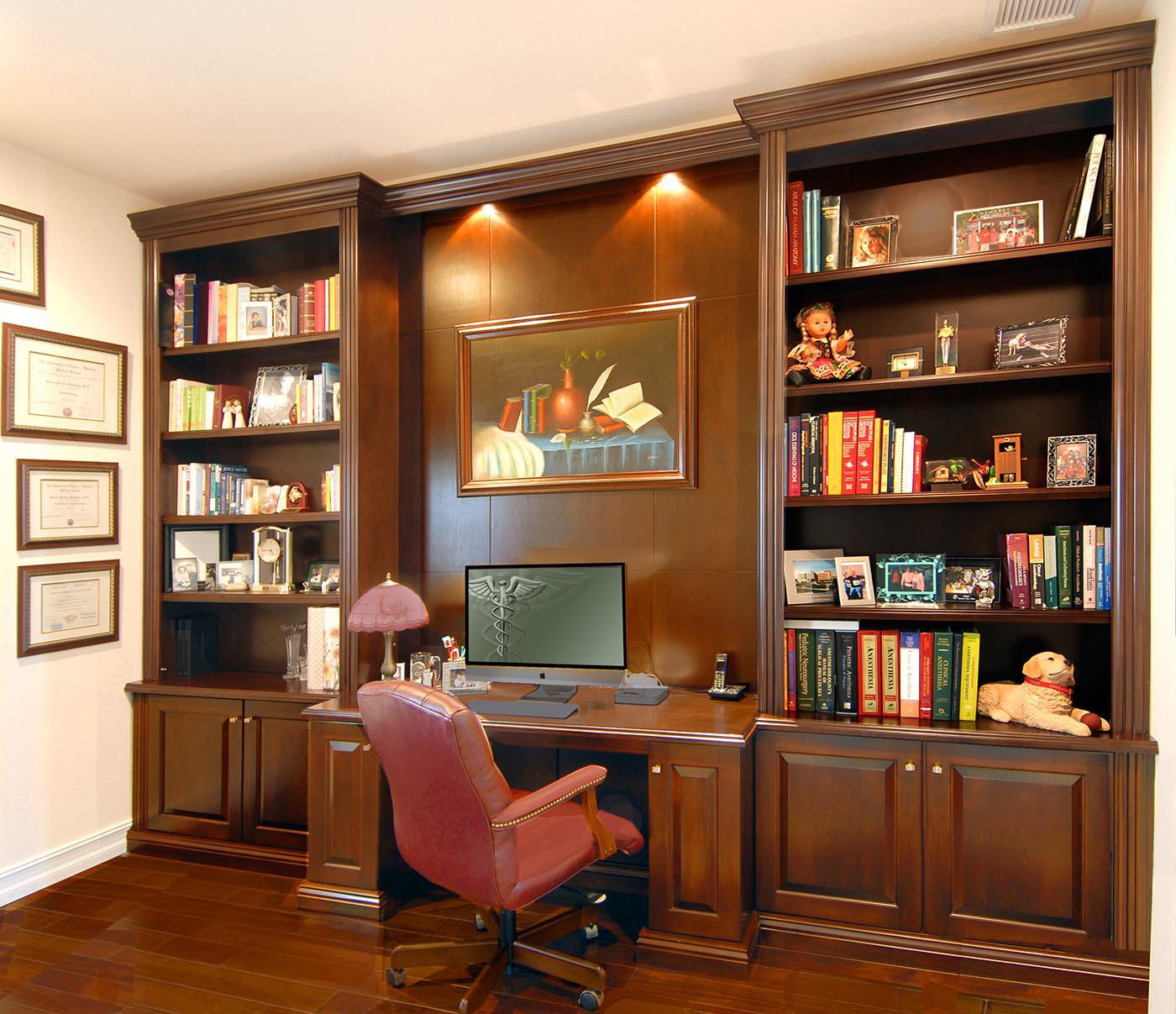 ساخت کتابخانه چوبی