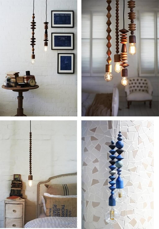 لوسترهای چوبی، طبیعت در خانه شما