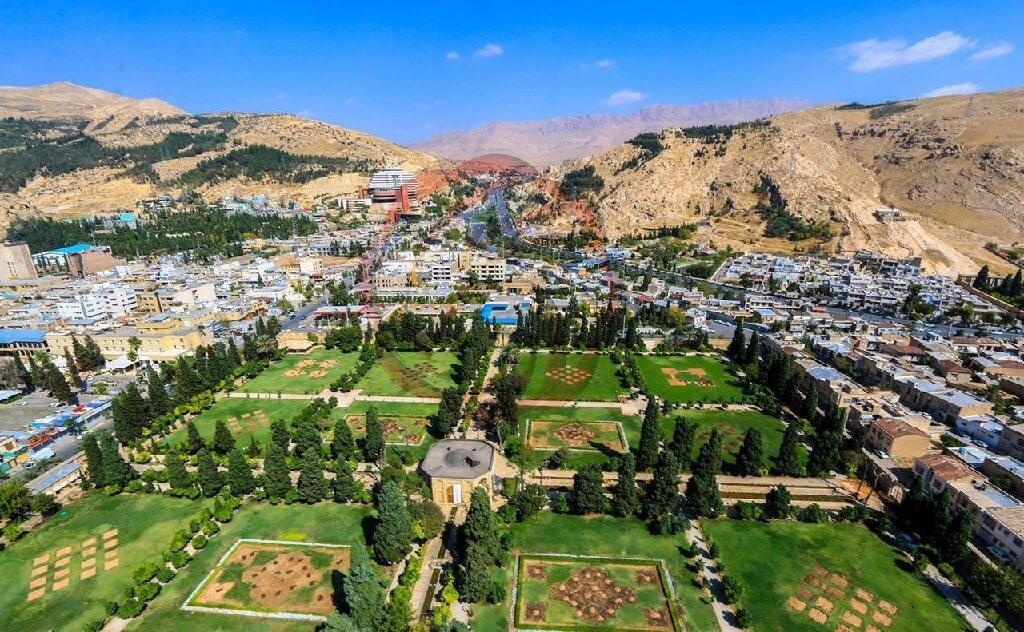 نگاهی به باغ های دیدنی شهر شیراز