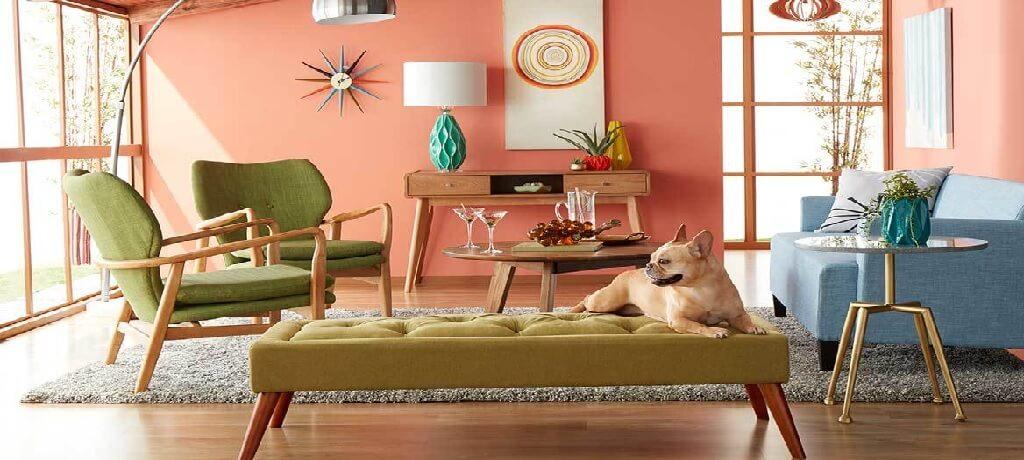 مبلمان منزل رنگی