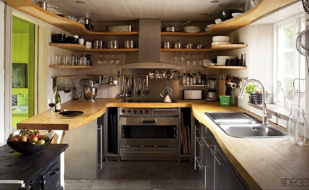 چگونه دکوراسیون یک آشپزخانه کوچک را طراحی کنم؟