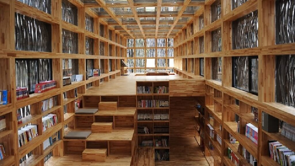 کتابخانه چوبی Liyuan