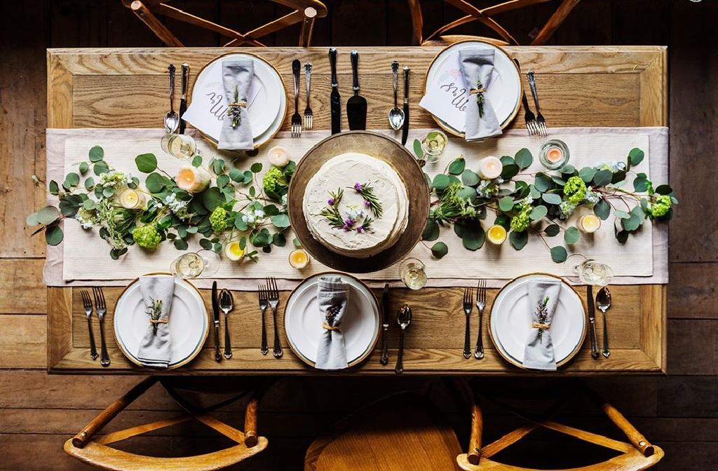 چیدمان میز ناهار خوری عروس