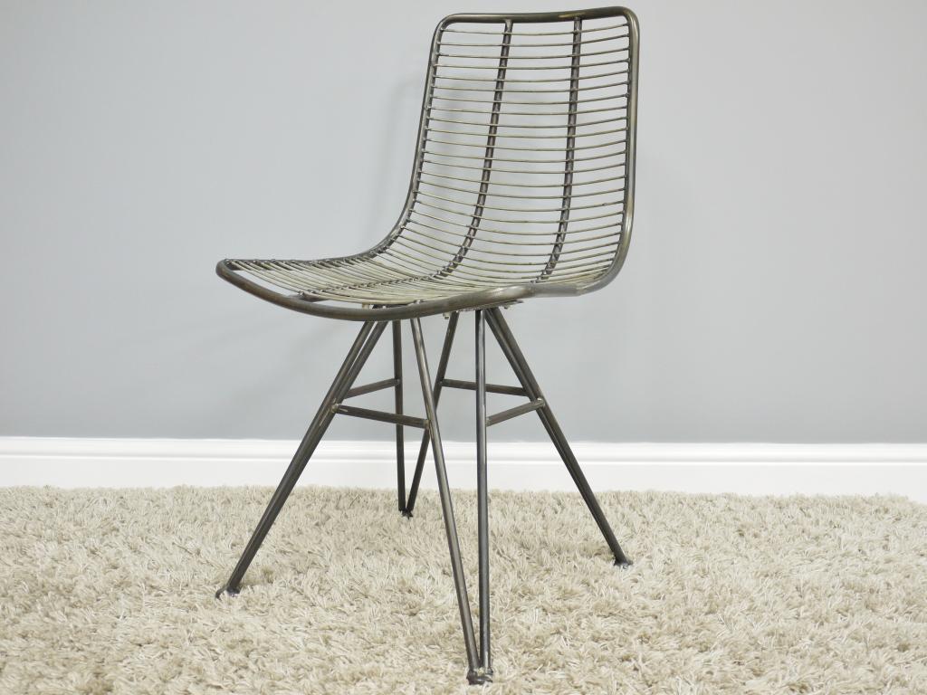 صندلی میز ناهارخوری فلزی
