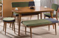 صندلی و میز ناهارخوی نیمکتی