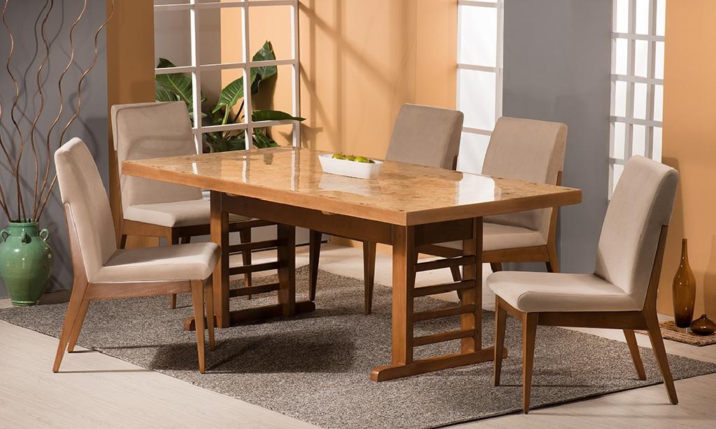 میز و صندلی ناهار خوری چوب راش