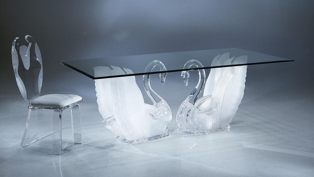 صندلی ناهارخوری شیشه ای