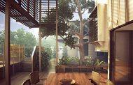 خانه چوبی تراس