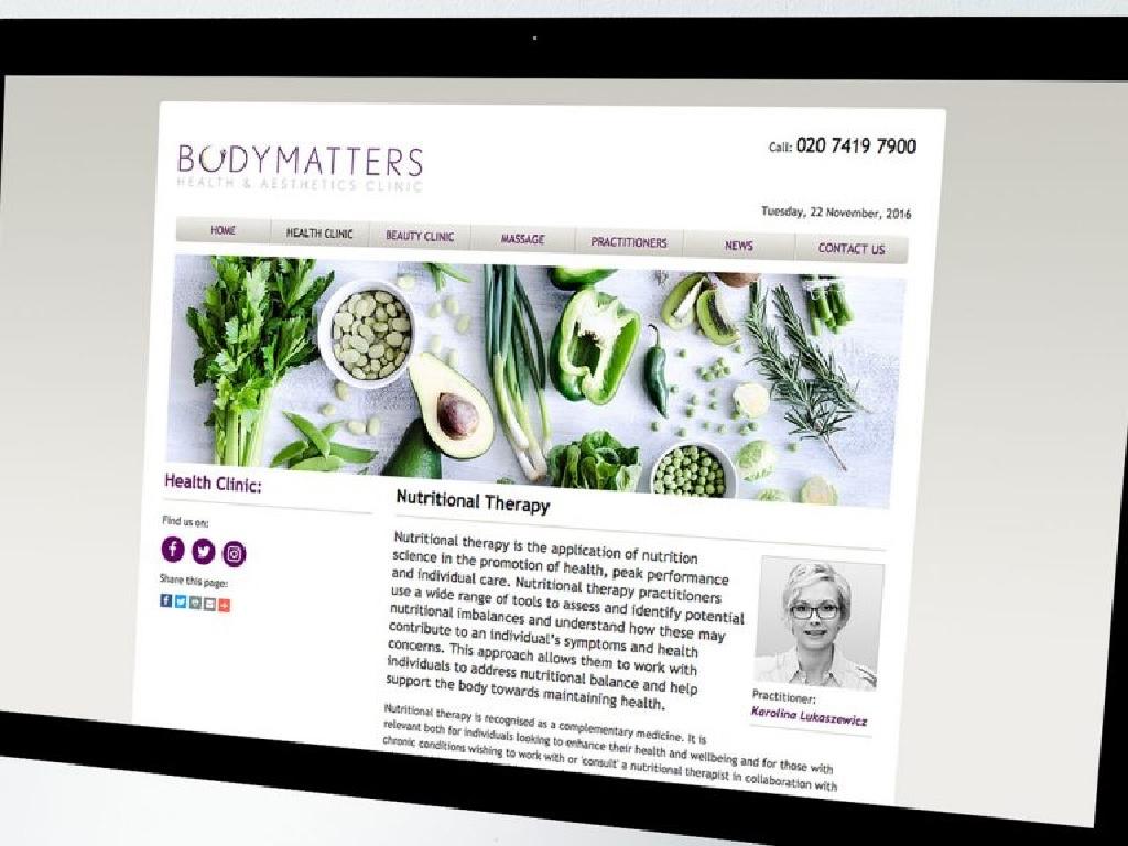 طراحی سایت بهداشت و زیبایی